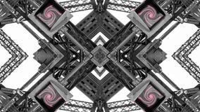 Lustrzany skutek metal struktury obrazy stock