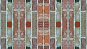 Lustrzany skutek na ściana z cegieł obraz stock