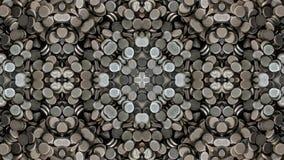 Lustrzany skutek na round metalu częściach ilustracja wektor