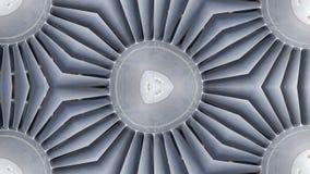Lustrzany skutek na samolotu strumienia śmigłach ilustracja wektor