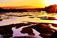 Lusutfu solnedgång Royaltyfri Bild