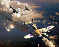 Luta aérea da segunda guerra mundial ilustração stock