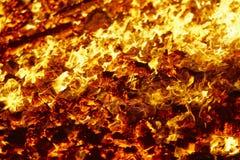 Luta ardente da fogueira do fogo, ignição da chama, brasas foto de stock royalty free