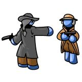Luta azul ilustração stock