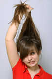 Luta com cabelos Foto de Stock Royalty Free