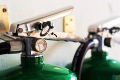 Luta contra o incêndio na luz suave Foto de Stock Royalty Free