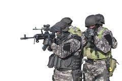 Luta contra o terrorismo, soldado das forças especiais fotografia de stock