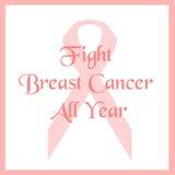 Luta cor-de-rosa da fita Imagens de Stock Royalty Free