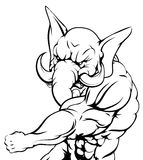 Luta da mascote do elefante Foto de Stock