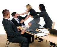 Luta da reunião de negócio Imagens de Stock Royalty Free