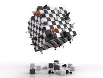 luta da xadrez 3d Fotografia de Stock
