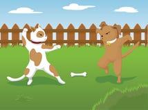 Luta de cão Imagens de Stock Royalty Free
