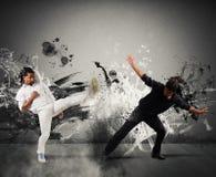 Luta de Capoeira fotografia de stock