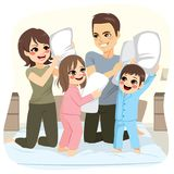 Luta de descanso da família ilustração royalty free