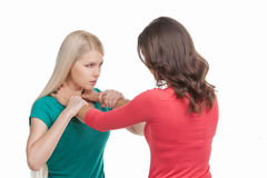 Luta de duas mulheres. Foto de Stock Royalty Free