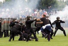 Luta de encontro aos hooligan Fotos de Stock Royalty Free