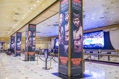 Luta de Floyd Mayweather e de Manny Pacquiao Fotografia de Stock Royalty Free