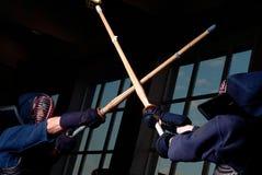 Luta de Kendo Fotografia de Stock