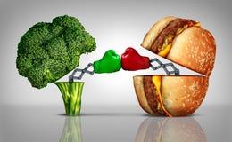 Luta do alimento ilustração do vetor