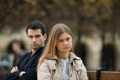 Luta do amor em Paris foto de stock royalty free