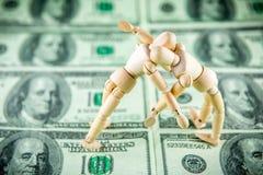 Luta do dólar fotografia de stock royalty free