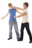Luta do dueto de Young Boys da forma Fotos de Stock Royalty Free