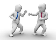 luta do homem de negócio 3d Imagem de Stock