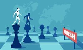 Luta do robô e do homem ilustração royalty free