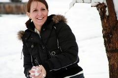 Luta do Snowball Fotos de Stock