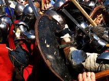 Luta dos cavaleiros Fotos de Stock Royalty Free