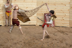 Luta dos gladiadores Fotos de Stock