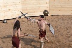 Luta dos gladiadores Imagens de Stock