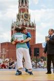 Luta dos participantes do primeiro competiam do Todo-russo Foto de Stock