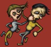 Luta louca ilustração do vetor