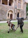 Luta medieval fotografia de stock