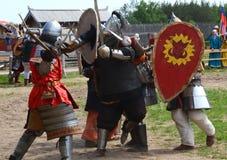 Luta medieval dos cavaleiros Imagem de Stock Royalty Free