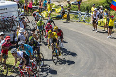A luta para o amarelo - Tour de France 2016 Fotos de Stock