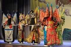 Luta-Pequim Opera: Adeus a meu concubine Imagens de Stock Royalty Free