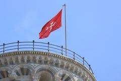 luta pisa torn Cell med klockor Tornet är byggd entir royaltyfri bild
