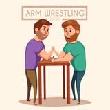 Luta romana de braço Lutadores da batalha Ilustração do vetor dos desenhos animados Foto de Stock