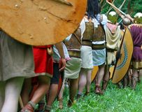 Luta romana incrível contra Gauls Imagens de Stock Royalty Free