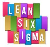 Luta sex färgrika bandgrupp för Sigma stock illustrationer