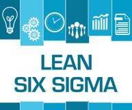 Luta sex symboler för blåa band för Sigma vektor illustrationer
