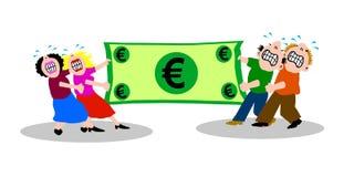 Luta sobre o dinheiro Imagens de Stock Royalty Free