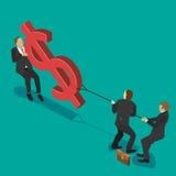 Luta sobre o dinheiro Fotografia de Stock