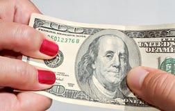 Luta sobre o dinheiro imagem de stock royalty free
