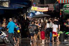 Luta tailandesa da água do ano novo Foto de Stock Royalty Free