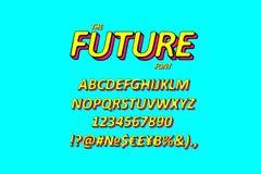 Lutad 3D utan Serif Font vektor illustrationer