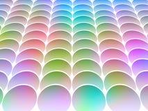 lutade ned cirklar som färgas Royaltyfri Bild