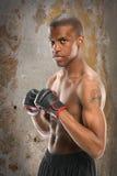 Lutador afro-americano Imagem de Stock